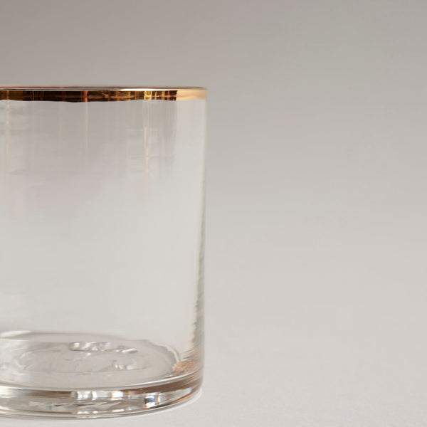 Gold Rimmed Whiskey Glass