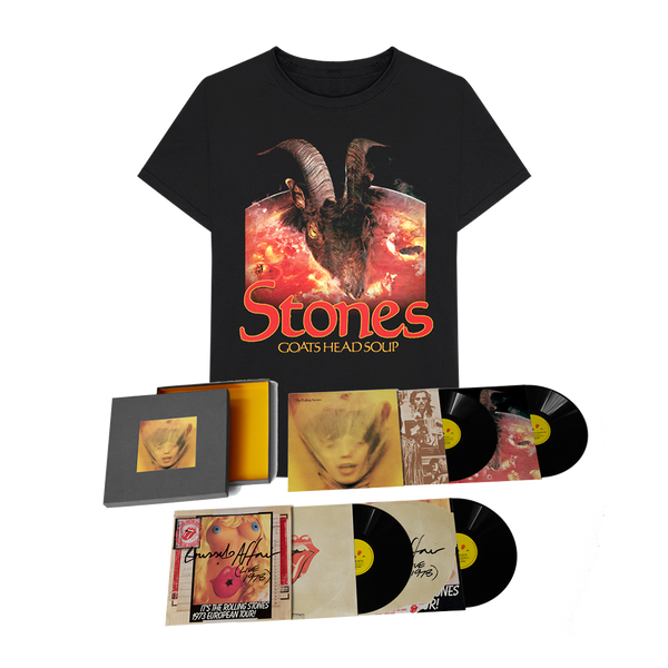 GOATS HEAD SOUP - BOX 4 VINYLES SUPER DELUXE ET TEE-SHIRT
