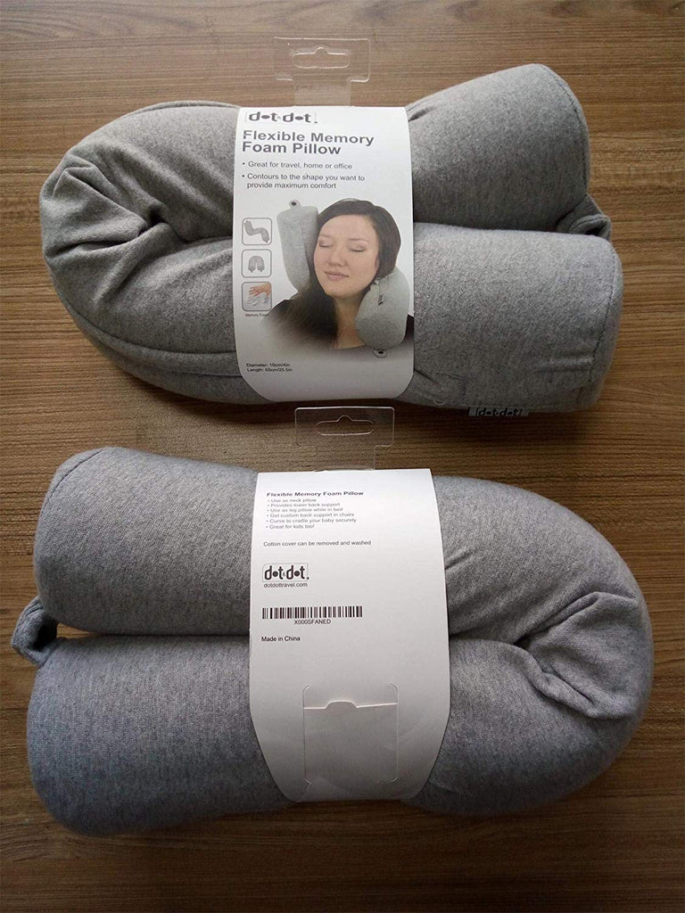 Dot&Dot Travel Pillow Cover (Gray)
