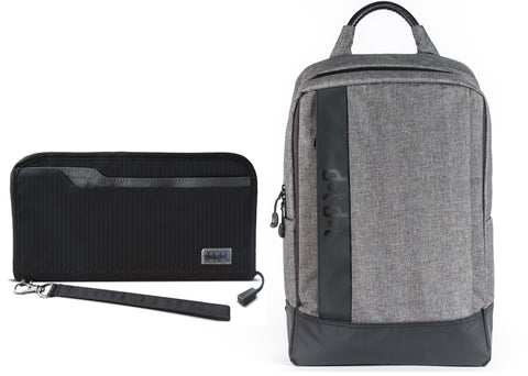 Travel Wallet and Laptop Backpack Bundle (30% OFF)
