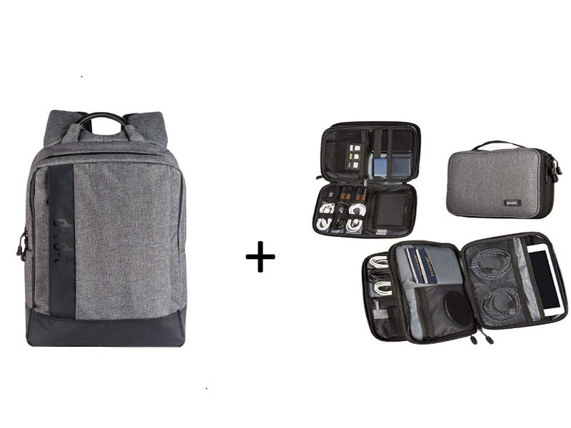 Laptop Backpack and Double Sided Electronics Organizer (29% OFF)