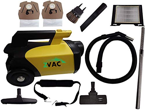 ZVac Canister Vacuum Cleaner Pet Edition - Rug, Upholstery, Crevice Cleaning Tool Kit - Stainless Steel Telescopic Wand - Hair, Dust, Dirt, Mite Remover for Car, Kitchen, Home - 120V Commercial Grade