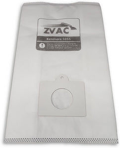 ZVac Kenmore Type C/Q Canister Vacuum Replacement Cloth Bags for Style C, Q, 5055, 50558, & Panasonic C-5