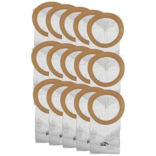 ZVac Replacement Proteam Premium Cloth Vacuum Bags Compatible with Part Part Numbers 100331 and Fits Proteam Coach Vac, Mega Vac, and Super Coach Vac Backpack Vacuum Cleaners - 15 Pack in A Bag