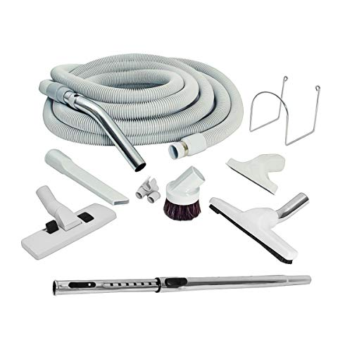 ZVac Universal Central Vacuum Accessory Kit for Central Vacuum Systems with 30 ft Straight Handle Standard Hose with Cuff Compatible with Beam, Nutone, Electrolux, Hayden, Centec, Vacumaid