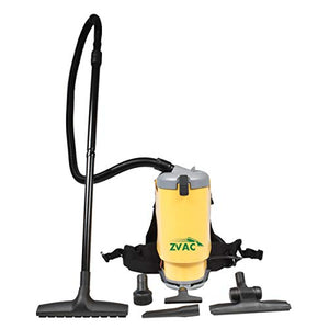 ZVac Backpack Vacuum Cleaner Commercial Grade ZBV-1 1.5 Gal. 1440W Motor HEPA Filtration with Complete Attachment Tool Set, 30' Power Cable, Cushion Shoulder Straps & Waist Belt