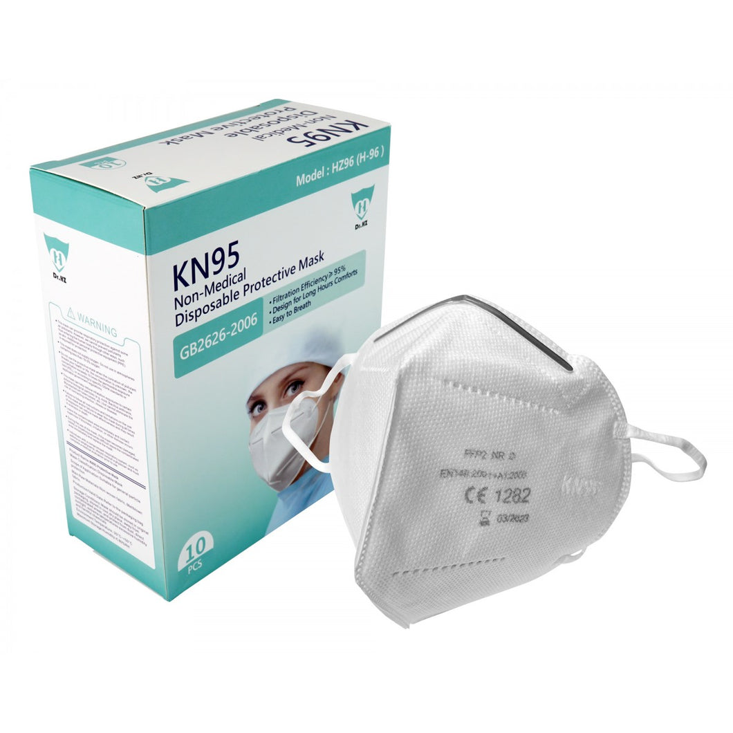 ZVac Disposable KN95 Masks - 5 Layer Filtration Protective Mask - Comfortable Breathable Face Mask - Designed for Sanitation -Ships from USA - 10 pcs