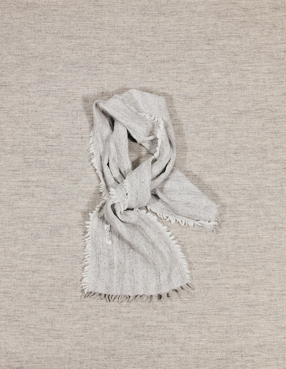 Scarf – Herringbone – Grey and White: