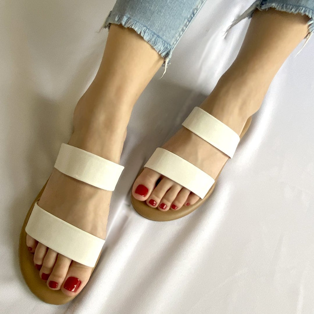 Maria Slides in Double White