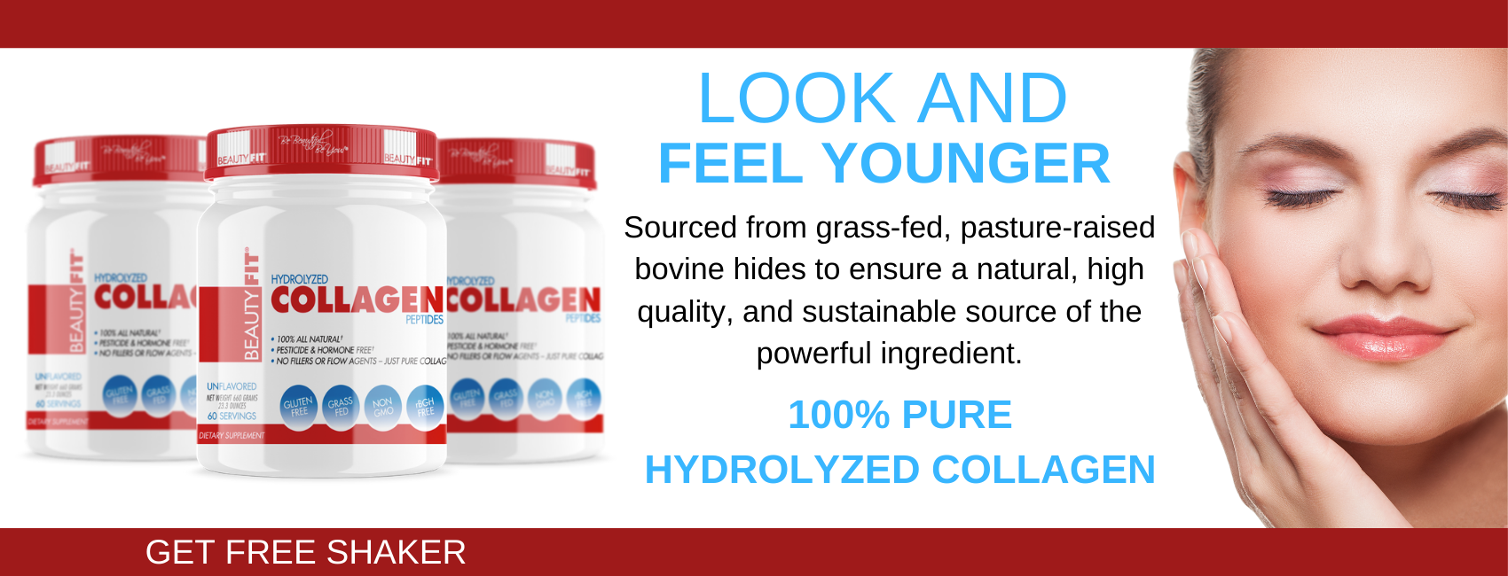 BeautyFit® Collagen for women is 100% all-natural Brazilian pasture-raised bovine hydrolyzed collagen powder. Collagen powder for women work in the following way: