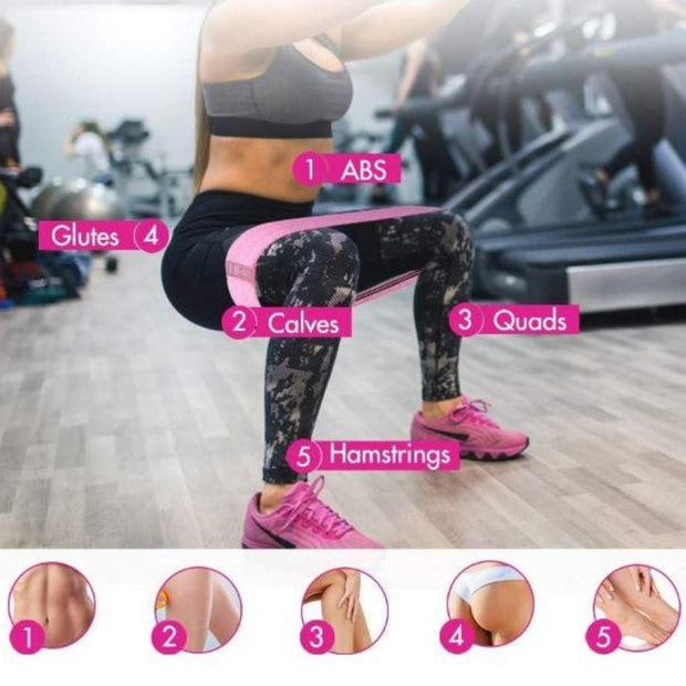 Workout of Exercise resistance bands Beautyfit® Australia