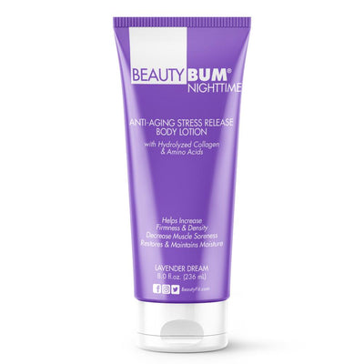 Tube of Beauty-Bum® Nighttime Anti-Aging Stress Release Body Lotion For woman's (236ml) Lavender Dream