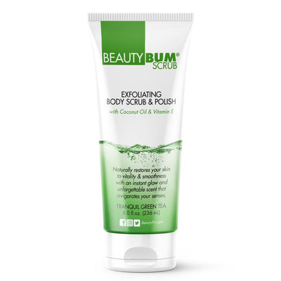 Tube of Beauty-Bum Scrub® Exfoliating Body Scrub Lotion & Polish (236ml) Tranquil Green Tea