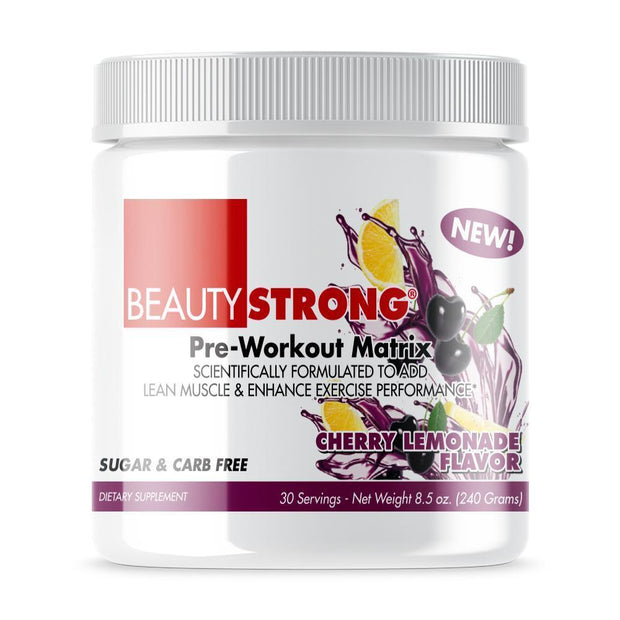 Tube of Beauty-Strong® Pre Workout Powder For Women's (233grams) Cherry  Lemonade  Flavor