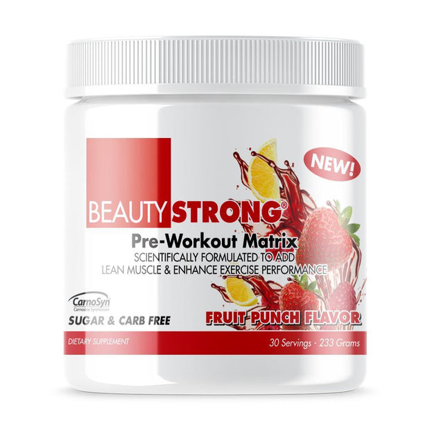 Tube of Beauty-Strong® Pre Workout Powder For Women's (233grams) Fruit Punch Flavor