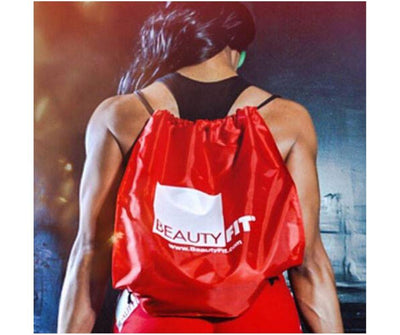 Waterproof Drawstring Backpack color Red | BeautyFit® Australia