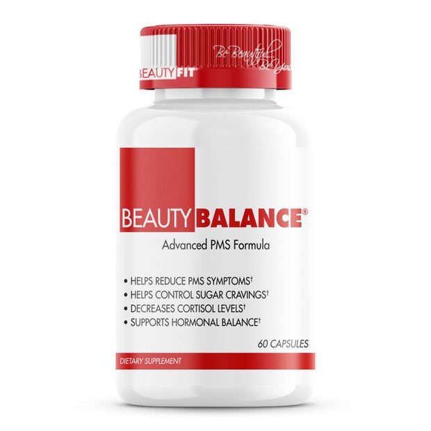 Bottle of Beauty-Balance® Helps Reduce PMS Symptoms supports Hormonal Balance & Weight Loss for woman (60 capsules)