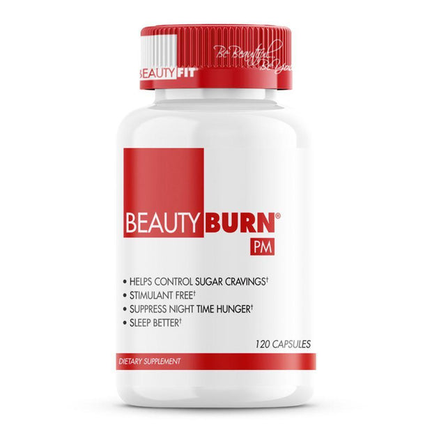 Bottle of Beauty-Burn® PM Controls Blood Sugar, Suppresses Night Time Hunger (120capsules)