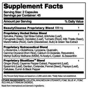 Supplement facts of Beauty-Cleanse®  herbal detox cleanse for Women (90capsules)