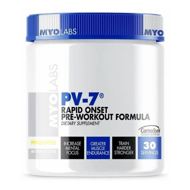 Tube of PV-7 Pre Workout Powder For Women's & Man's (272grams) Pineapple Flavor
