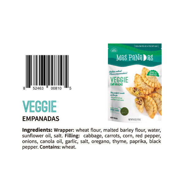 Nutrition Facts Veggie Mini Empanadas