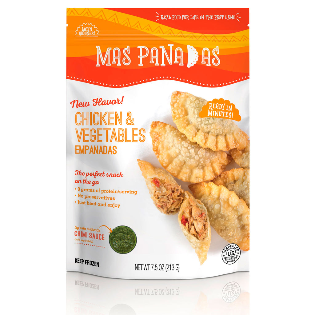 FROZEN CHICKEN AND VEGETABLES MINI EMPANADAS