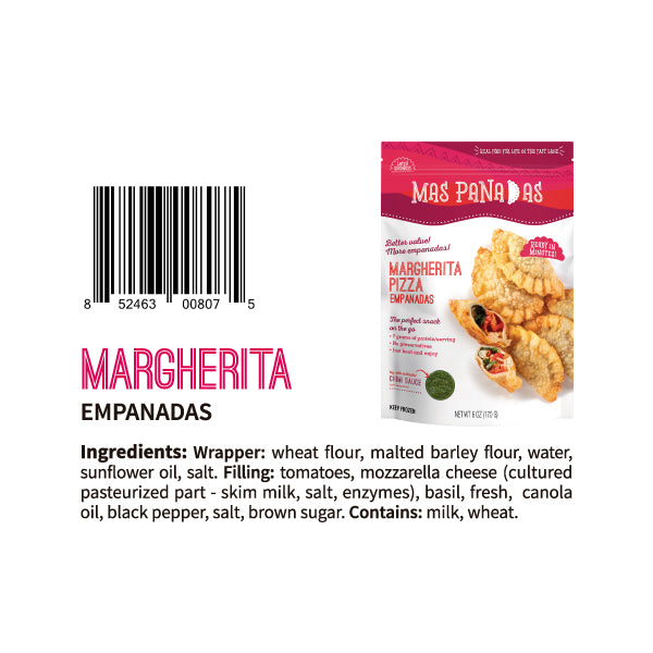 FROZEN MARGHERITA MINI EMPANADAS - 8 PCS - 7 OZ