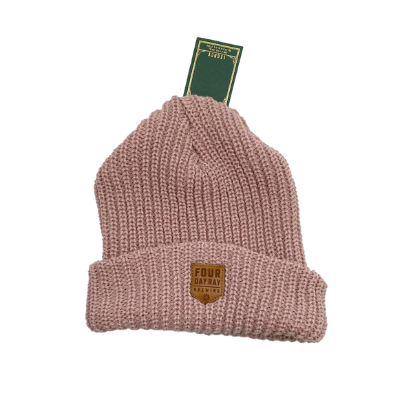 FDR Leather Patch Beanie Rose