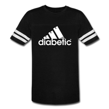 Load image into Gallery viewer, Diabetic + Strips - Vintage Sport T-Shirt - black/white