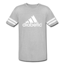 Load image into Gallery viewer, Diabetic + Strips - Vintage Sport T-Shirt - heather gray/white