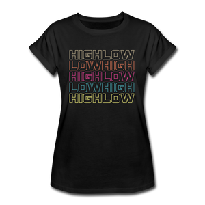 HIGH LOW - Women's Relaxed Fit T-Shirt - black
