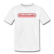 Load image into Gallery viewer, Need Insulin - Kids' Premium T-Shirt - white
