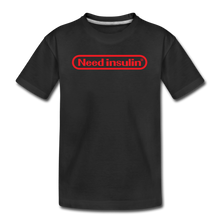 Load image into Gallery viewer, Need Insulin - Kids' Premium T-Shirt - black
