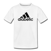 Load image into Gallery viewer, Diabetic + Strips - Toddler Premium T-Shirt - white