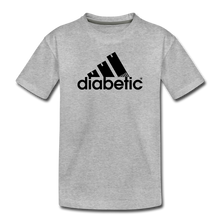 Load image into Gallery viewer, Diabetic + Strips - Toddler Premium T-Shirt - heather gray
