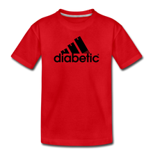 Load image into Gallery viewer, Diabetic + Strips - Toddler Premium T-Shirt - red