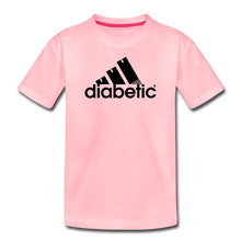 Load image into Gallery viewer, Diabetic + Strips - Toddler Premium T-Shirt - pink