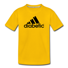Load image into Gallery viewer, Diabetic + Strips - Toddler Premium T-Shirt - sun yellow