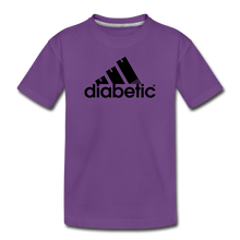 Load image into Gallery viewer, Diabetic + Strips - Toddler Premium T-Shirt - purple