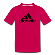 Load image into Gallery viewer, Diabetic + Strips - Toddler Premium T-Shirt - dark pink