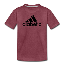 Load image into Gallery viewer, Diabetic + Strips - Toddler Premium T-Shirt - heather burgundy