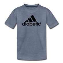 Load image into Gallery viewer, Diabetic + Strips - Toddler Premium T-Shirt - heather blue