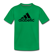Load image into Gallery viewer, Diabetic + Strips - Toddler Premium T-Shirt - kelly green