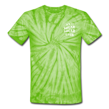 Load image into Gallery viewer, Anti Sugar Sugar Club - Unisex Tie Dye T-Shirt - spider lime green