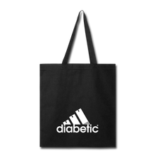 Load image into Gallery viewer, Diabetic + Strips - Tote Bag - black