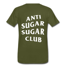 Load image into Gallery viewer, Anti Sugar Sugar Club - Men's Premium T-Shirt - olive green