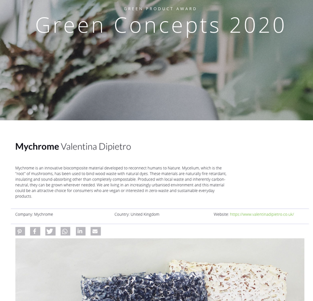 Mykor is shortlisted for the Green Concept Award 2020