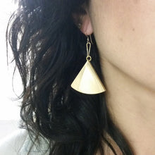 Load image into Gallery viewer, Geometric Fan Earrings