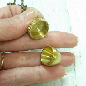 Brass Acorn Capsule Necklace
