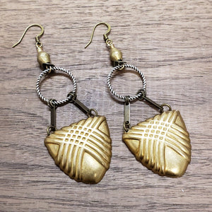 Shielded Mixed Metal Earrings